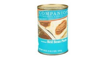 sweetened red bean paste Companion Nutrition info