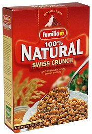 swiss crunch cereal 100% natural Familia Nutrition info