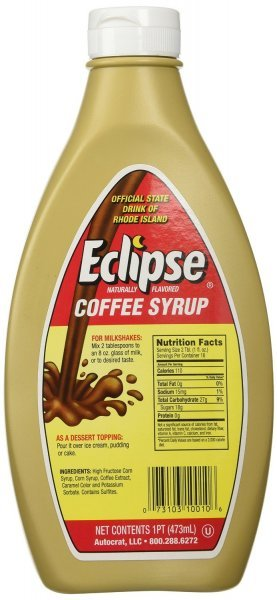 syrup coffee Eclipse Nutrition info