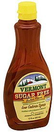 syrup low calorie, sugar free, butter flavor Vermont Nutrition info