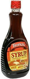 syrup original recipe Tropical Nutrition info