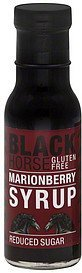 syrup reduced sugar, marionberry Black Horse Nutrition info