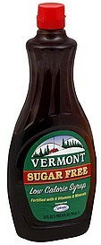 syrup sugar free Vermont Nutrition info