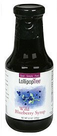 syrup wild blueberry Lollipop Tree Nutrition info