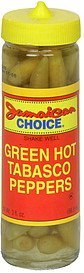 tabasco peppers green hot Jamaican Choice Nutrition info
