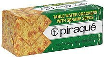 table water crackers with sesame seeds Piraque Nutrition info