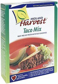 taco mix Midland Harvest Nutrition info