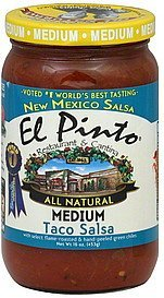 taco salsa medium El Pinto Nutrition info