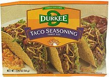 taco seasoning family size Durkee Nutrition info