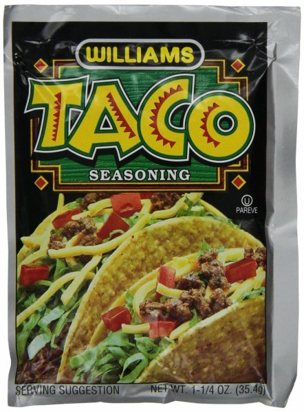 taco seasoning mix Williams Nutrition info
