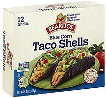 taco shells blue corn Bearitos Nutrition info