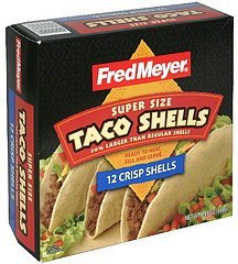 taco shells super size, crisp Fred Meyer Nutrition info