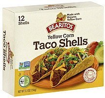taco shells yellow corn Bearitos Nutrition info