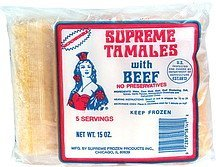 tamales with beef Supreme Nutrition info