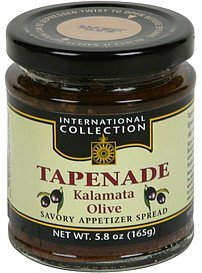 tapenade kalamata olive International Collection Nutrition info