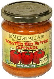 tapenade roasted red pepper Meditalia Nutrition info