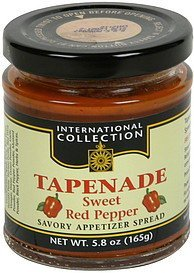 tapenade sweet red pepper International Collection Nutrition info
