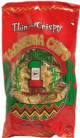 taqueria chips thin and crispy La Primera Nutrition info