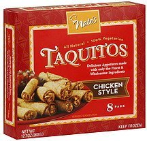 taquitos chicken style Nates Nutrition info