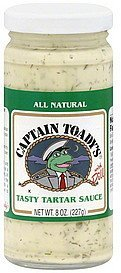 tartar sauce with dill Captain Toadys Nutrition info