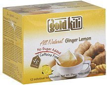 tea ginger lemon Gold Kili Nutrition info