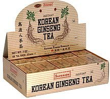 tea korean ginseng instant, blue label Superior Nutrition info