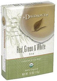 tea red, green & white Davidsons Nutrition info