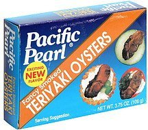 teriyaki oysters fancy smoked Pacific Pearl Nutrition info