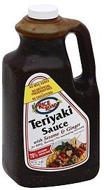 teriyaki sauce with sesame & ginger Rice Road Nutrition info