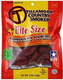 teriyaki sticks bite size Tillamook Country Smoker Nutrition info