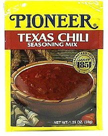 texas chili seasoning mix Pioneer Nutrition info