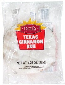 texas cinnamon bun Dolly Madison Bakery Nutrition info