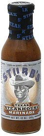 texas steakhouse marinade Stubbs Nutrition info