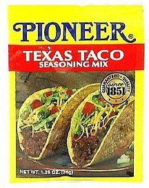 texas taco seasoning mix Pioneer Nutrition info