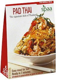 thai noodle meal pad thai Spaa Natural Foods Nutrition info