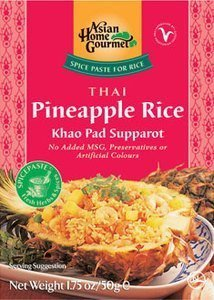 thai pineapple rice Asian Home Gourmet Nutrition info