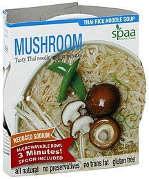 thai rice noodle soup mushroom Spaa Natural Foods Nutrition info