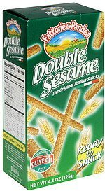 the original italian snacks double sesame Fattorie & Pandea Nutrition info