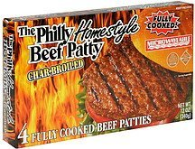 the philly homestyle beef patty char-broiled PNS&S Steak Company Nutrition info