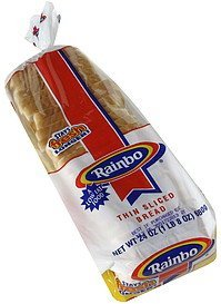 thin sliced bread Rainbo Nutrition info
