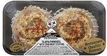 tilapia pinwheel with crab meat stuffing Sonoma Seafoods Nutrition info