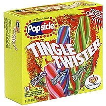 tingle twister pops Popsicle Nutrition info