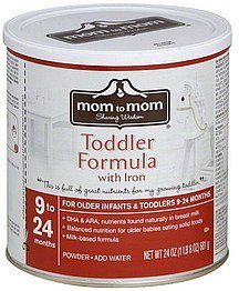 toddler formula with iron, 9 to 24 months Mom to Mom Nutrition info