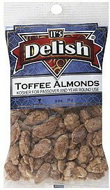 toffee almonds Its Delish Nutrition info