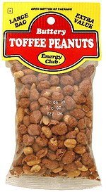 toffee peanuts buttery Energy club Nutrition info