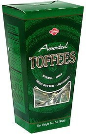 toffees assorted Oatfield Nutrition info