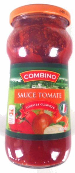 tomate sauce Combino Nutrition info