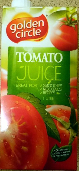 tomato juice Golden Circle Nutrition info