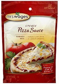 tomato mix create pizza sauce Mrs. Wages Nutrition info