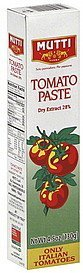 tomato paste Mutti Nutrition info